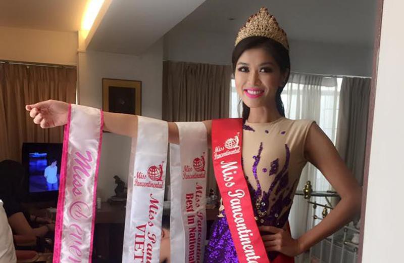 Oanh Yến là mỹ nhân từng lọt vào chung kết Hoa hậu Việt Nam 2008, top 15 Hoa hậu Thế giới người Việt 2010 và giành ngôi vị Hoa hậu Thế giới toàn cầu 2015.