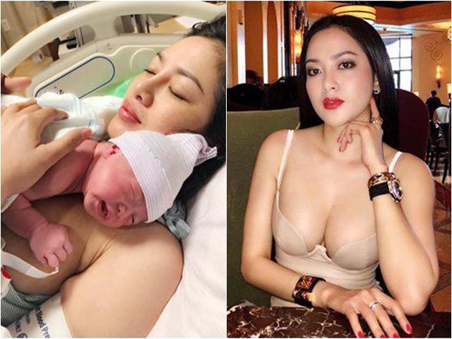 Nàng Hoa hậu bốc lửa yêu 4 tháng bầu 4 tháng, nhìn con gái sinh ra mà giật mình