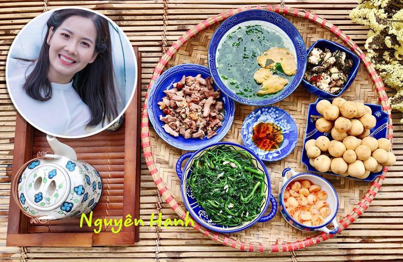 Chị Nguyên Hạnh (37 tuổi, Thái Bình) là một trong những bà nội trợ được nhiều chị em biết đến qua việc chia sẻ nhiều mâm cơm ngon, các công thức nấu ăn hấp dẫn trên mạng xã hội.