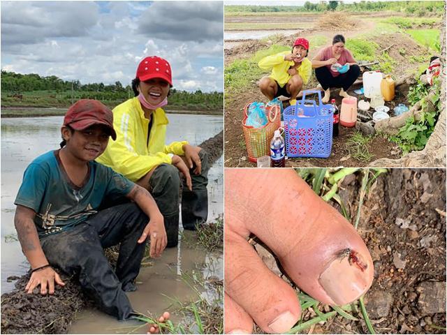 Sao Việt 24h: Cất vương miện, Hoa hậu nghèo nhất showbiz xắn quần lội ruộng làm đồng