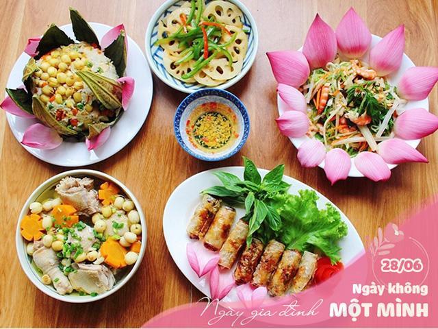 Gợi ý mâm cơm 5 món từ sen siêu ngon cho Ngày gia đình Việt Nam
