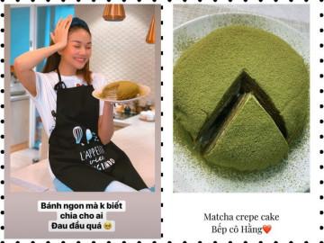 """Thanh Hằng vào bếp làm bánh khiến mẹ tròn mắt, fan """"xui"""" nên mở kênh vlog"""