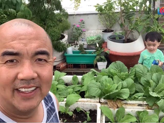 U40 làm bố, Quốc Thuận ngày dịch nghỉ quay Vợ chồng son, ở nhà chăm con