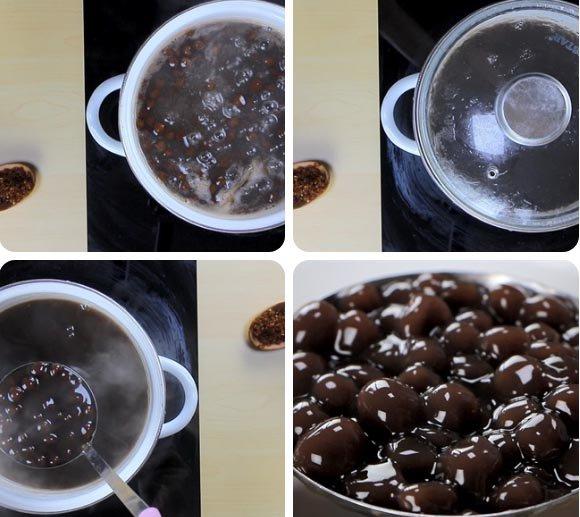 Cách làm sữa tươi trân châu đường đen ngon đơn giản tại nhà - 5