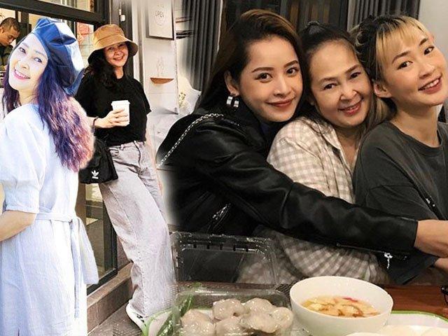 Mẹ nuôi của Chi Pu lộ mặt, U50 mà ăn diện trẻ trung như chị em với con gái