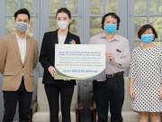 Sao Việt - Á hậu Huyền My ủng hộ vật phẩm trị giá 300 triệu đồng, chung tay chống COVID-19