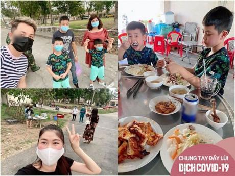 Sao Việt 24h: Chồng con đi 5 tiếng để gặp mình 5 phút đứng xa, vợ Đăng Khôi nghẹn lòng