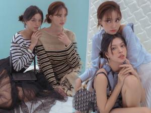 Ninh Dương Lan Ngọc - Tú Hảo diện đồ sinh đôi, khẳng định gout thời trang một chín một mười