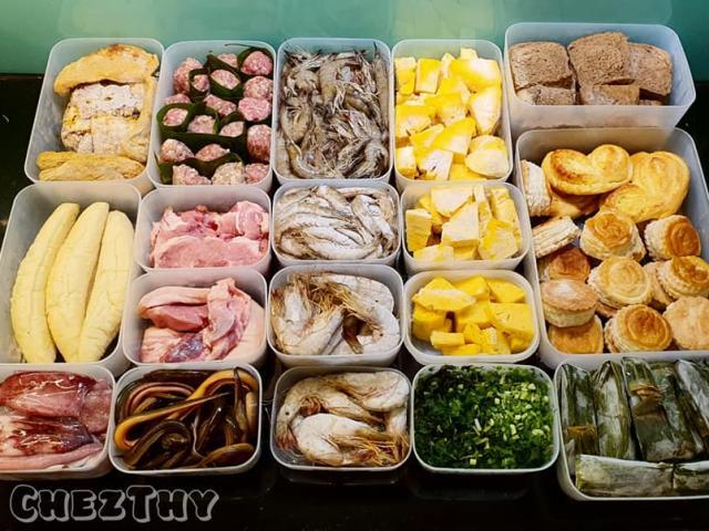 Vợ khéo léo trữ đông thực phẩm không dính thành tảng để chồng chỉ việc nấu ăn dễ dàng