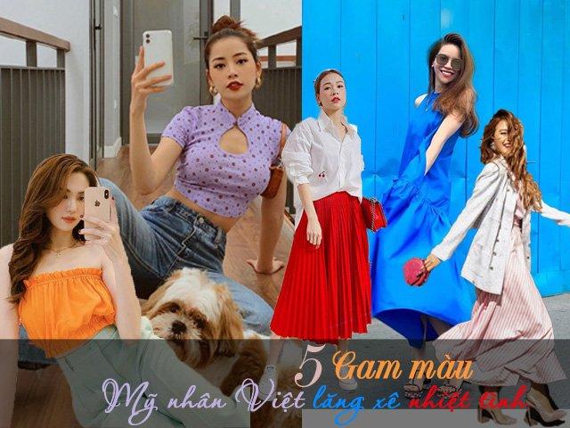 5 gam màu mỹ nhân Việt lăng xê nhiệt tình, diện lên là ăn đứt hội chị em bạn dì