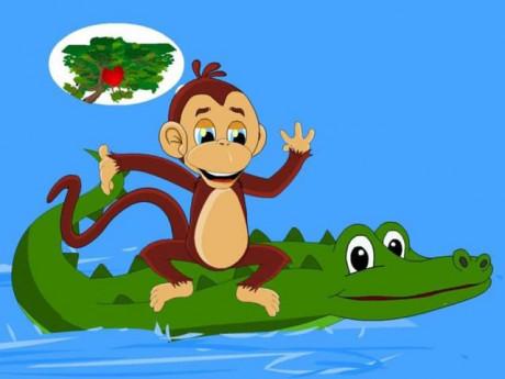 Truyện cổ tích: Khỉ và cá sấu