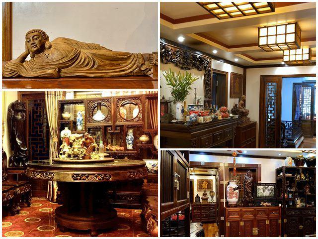 Tiến sĩ trẻ biến chung cư cũ 350m² thành dinh thự khủng, riêng bộ bàn trà đã 6 tỷ đồng