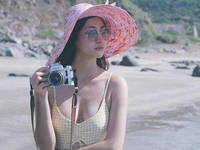 Nét quyến rũ bất ngờ của Hoa hậu Lương Thùy Linh trong trang phục bikini