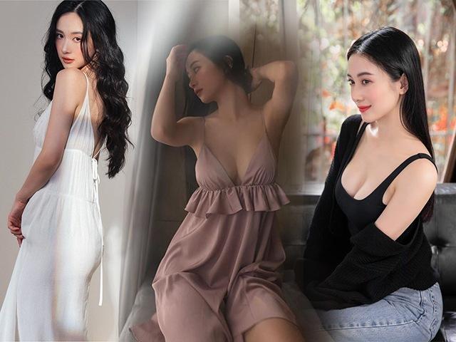 Jun Vũ lại diện váy hai dây lả lơi, vòng 1 đầy đặn đã thay đổi phong cách cô nàng