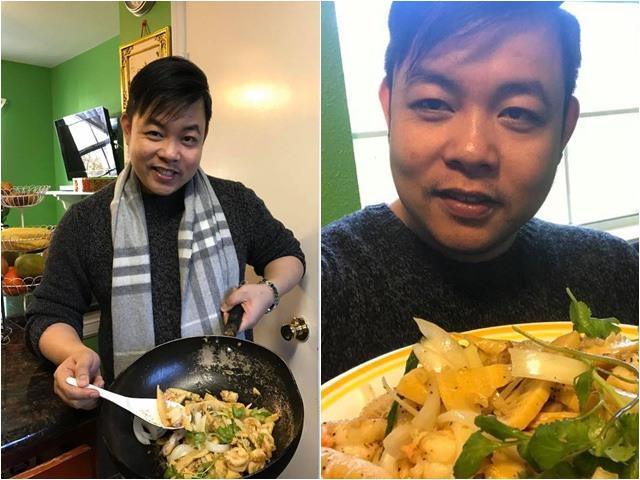 Khoe nấu ăn cho vợ món ngon nhưng chiếc chảo của Quang Lê mới là tâm điểm