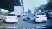 Người đàn ông tự ngã xe rồi lăn lộn, ăn vạ bị camera hành trình ghi lại