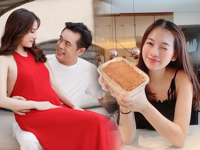 Bầu song thai đã 4 tháng, bà xã Dương Khắc Linh vẫn giữ nguyên làn da láng mịn, tươi tắn