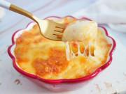 Bếp Eva - Con thèm khoai tây, mẹ làm ngay món nướng còn ngập tràn cả phô mai ai ăn cũng thích