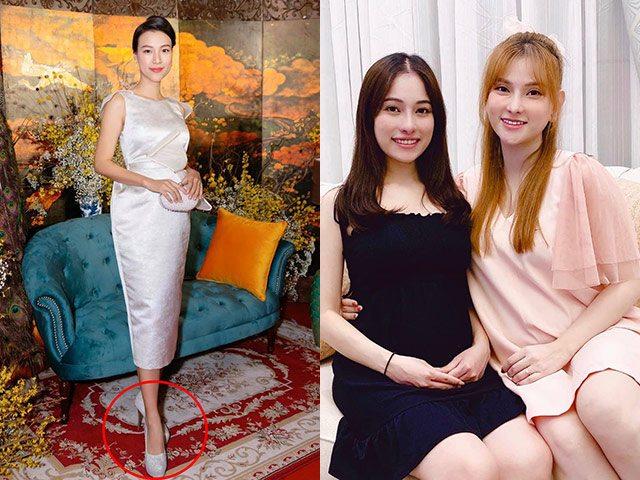 Điểm khác khi sao Việt mang bầu đi giày cao: Hoàng Oanh bị trách, Thu Thủy lại được khen
