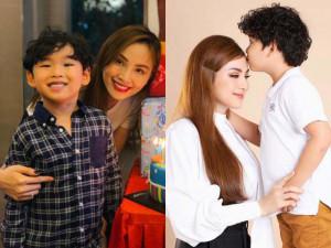 Sau nghi vấn ly hôn lần 2, HH Diễm Hương khoe hành động của con trai làm cô ngất lịm
