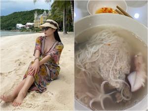 Ca sĩ Phương Linh ăn món bún có tên cực lạ nhưng trông thiếu hấp dẫn vì lý do này
