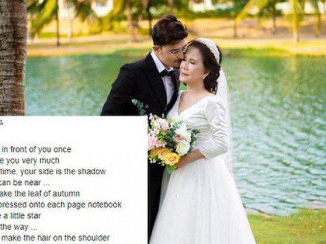 Chú rể ngoại quốc bất ngờ đăng dòng trạng thái có nội dung lạ dành cho cô dâu 65 tuổi