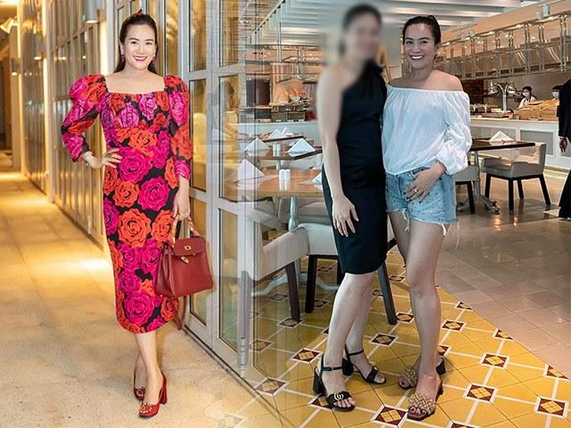 Chẳng có đôi chân siêu mẫu, bà xã Bình Minh vẫn tự tin cân trọn quần short
