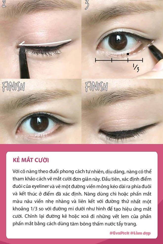 Eva Pick: Mách nàng 6 kiểu kẻ eyeliner đẹp, quan trọng nhất là chỉ tốn chưa đến một phút