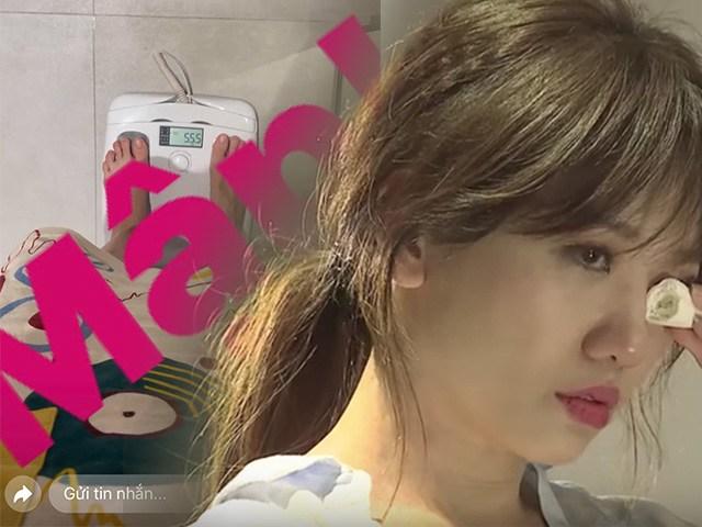 Hari Won công khai khoảnh khắc bước lên cân, cân nặng ra sao mà chính chủ khóc thét?