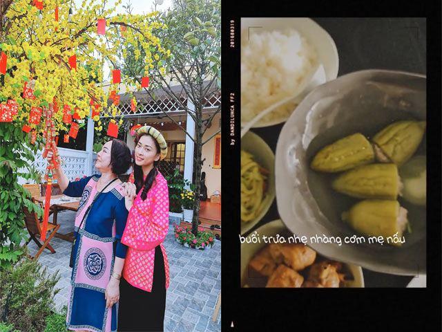 Bận rộn công việc, Ngô Thanh Vân được mẹ nấu cơm, không cần ăn kiêng giữ dáng