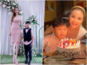 """Lâu lắm mới được lên sóng, con trai Diễm Hương """"lấn át"""" mẹ vì diện vest lớn phổng phao"""