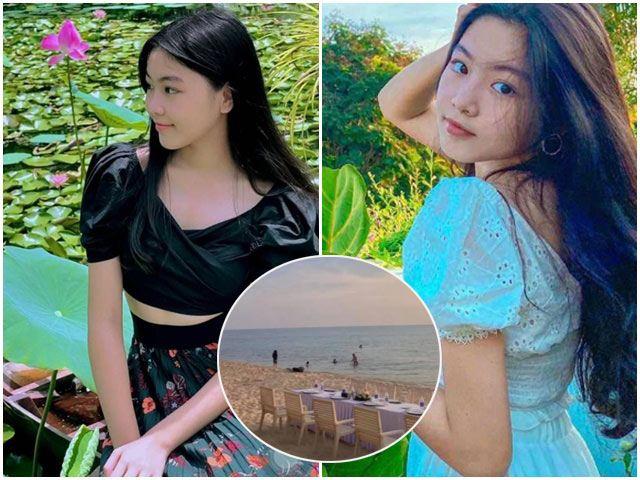 Con gái Quyền Linh sinh nhật trên bãi biển ở Phú Quốc, khoe nhan sắc hoa hậu tuổi 16