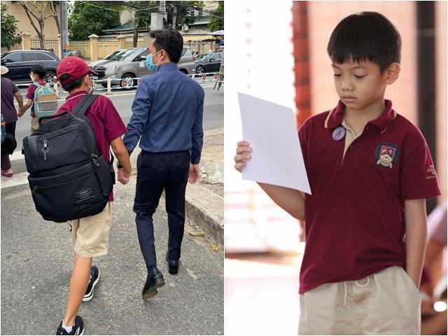 Sao Việt 24h: Subeo cao gần bằng bố nhưng chiếc balo to chà bá mới gây chú ý đặc biệt