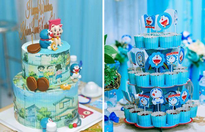 Cô dâu Bạc Liêu tổ chức đám hỏi đặc biệt, phòng tân hôn ngập tràn mèo máy Doraemon