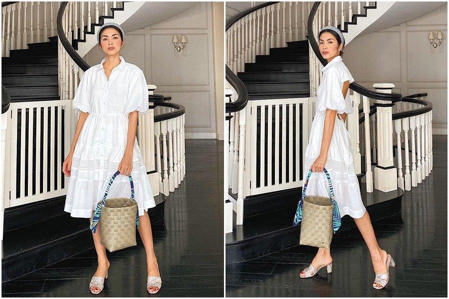Hà Tăng hiếm hoi mặc khoét cả tấm lưng trần, tận dụng luôn đường xẻ tà khoe body ngọc nữ - 9
