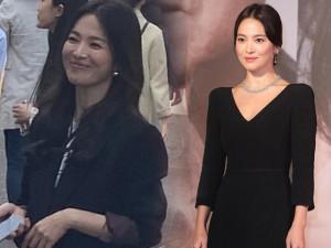 """Bắt gặp Song Hye Kyo đời thực: Nhan sắc nữ thần toả sáng nhờ kiểu tóc """"bổ luống"""" phù hợp"""