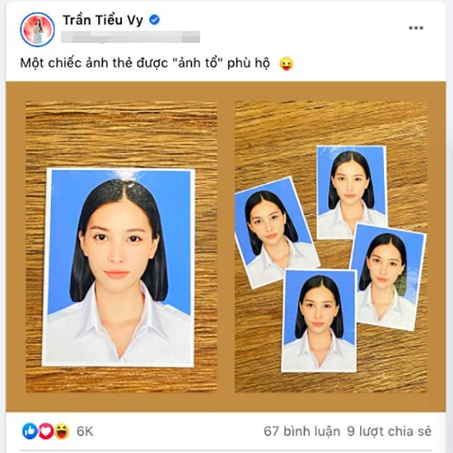 Tiểu Vy khoe ảnh thẻ đẹp ghen tị, hội chị em bông hậu Việt Nam không chịu thua kém