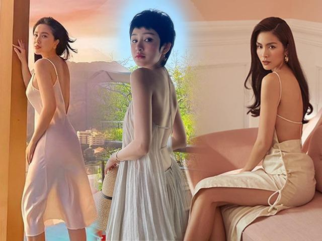 Không hẹn mà gặp, hội mỹ nhân Việt đồng loạt diện váy áo khoe lưng trần