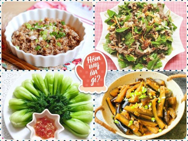 Mát trời nấu ngay bữa cơm chiều nhiều món thơm ngon, cơm nấu bao nhiêu cũng hết