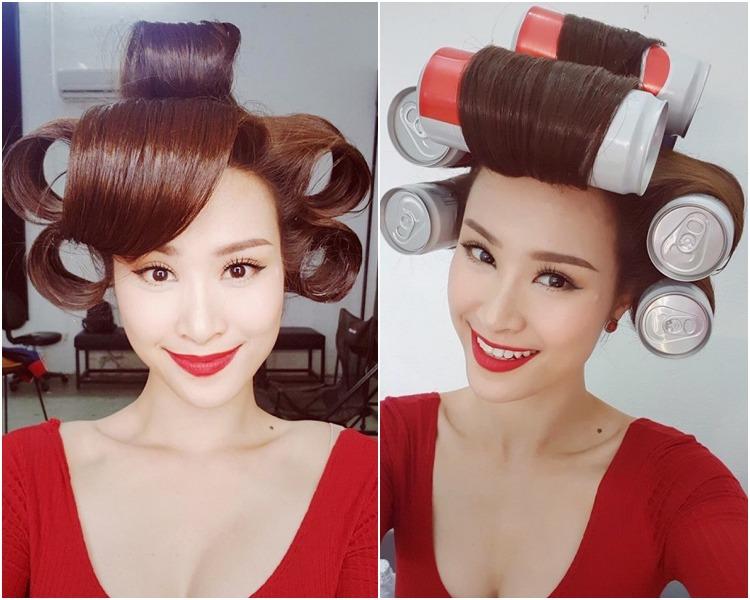 Phạm Băng Băng sắm vũ khí làm tóc xoăn bồng bềnh ngay tại nhà, sao Việt cũng chẳng kém cạnh