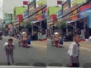 Được tài xế ô tô nhường đường, bé trai liền có hành động khiến CĐM ngả mũ thán phục