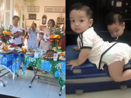 Cặp song sinh nhà Hoa hậu Đặng Thu Thảo lớn phổng, 8 tháng đã leo trèo tập đi