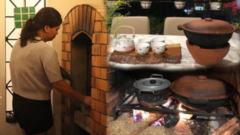 Tin tức - Người phụ nữ xây cả bếp củi làng quê độc đáo trong nhà phố Hà Nội