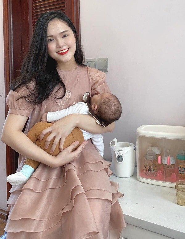 Bà xã cầu thủ Duy Mạnh lấy lại sắc vóc chuẩn tiểu thư sau sinh con đầu lòng - 7