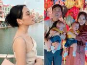 6 tháng sau sinh 2 con   bản sao Dương Khắc Linh  , Sara Lưu nõn nà chẳng khác   gái son