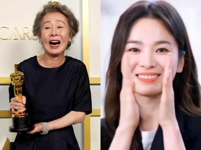 Bà ngoại quốc dân 73 tuổi lần đầu nhận tượng vàng, Song Hye Kyo liền có động thái gây bão