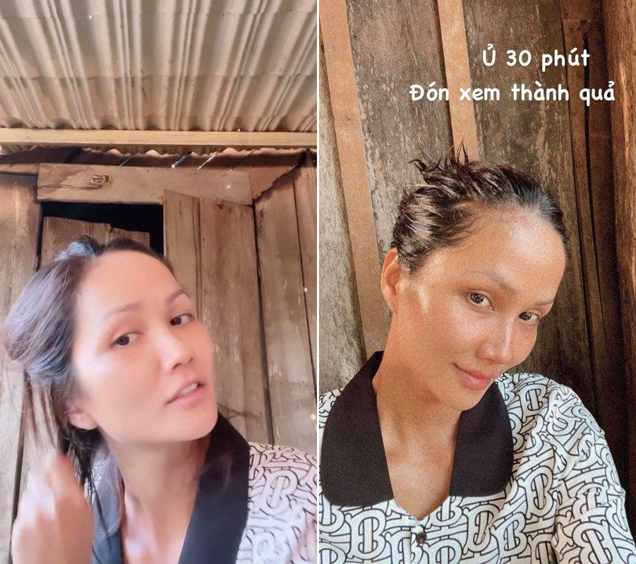 H'Hen Niê làm mask ủ tóc bị cả nhà xa lánh vì mùi lạ nhưng kết quả rất đáng