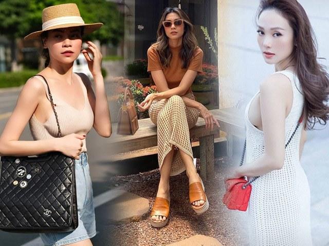 Đồ len móc lưới đâu chỉ diện vào mùa đông, sao Việt còn ốp luôn cho outfit ngày hè