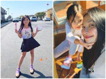 Sống ở Mỹ từ nhỏ, con gái Kim Hiền 5 tuổi chân đã dài miên man, hotgirl hơn mẹ