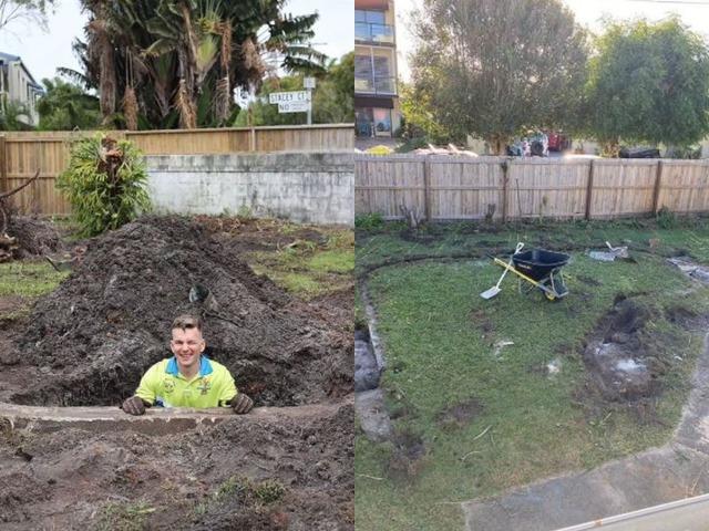 Đang cải tạo khu vườn sau nhà, chàng trai ngỡ ngàng khi đào lớp đất lên